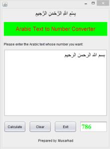 Arabic Word-Number
